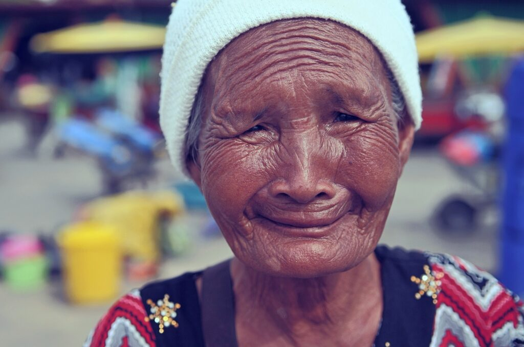 歳を重ねたおばあちゃん