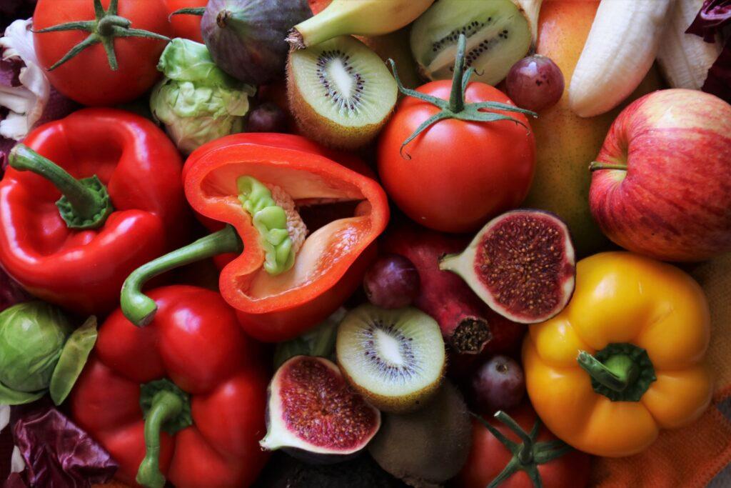 栄養のある野菜が並んでいる