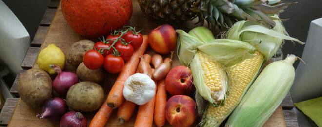 健康良さそうな野菜が並んでいる